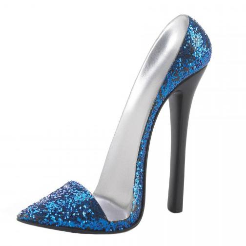 Sparkly High Heel SHOE Phone Holder - Blue