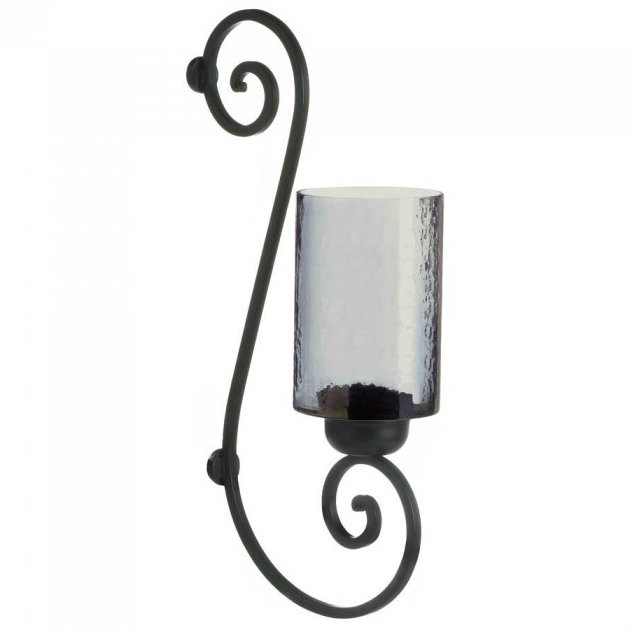 Smoked Glass Candle SCONCE