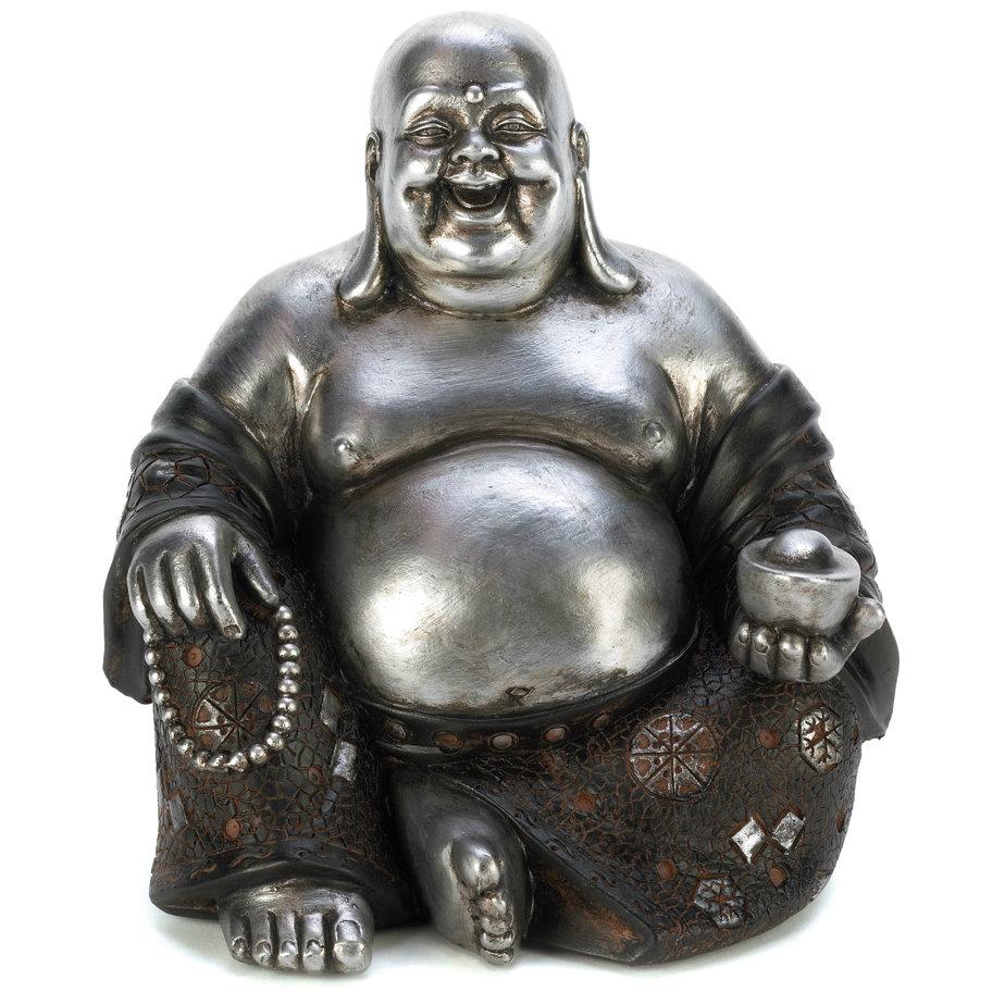 Silver and Black Buddha