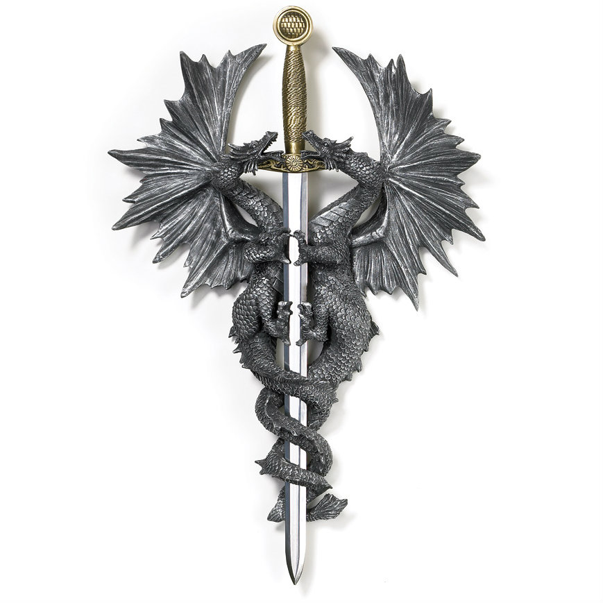 Intertwined Dragons DAGGER Plaque