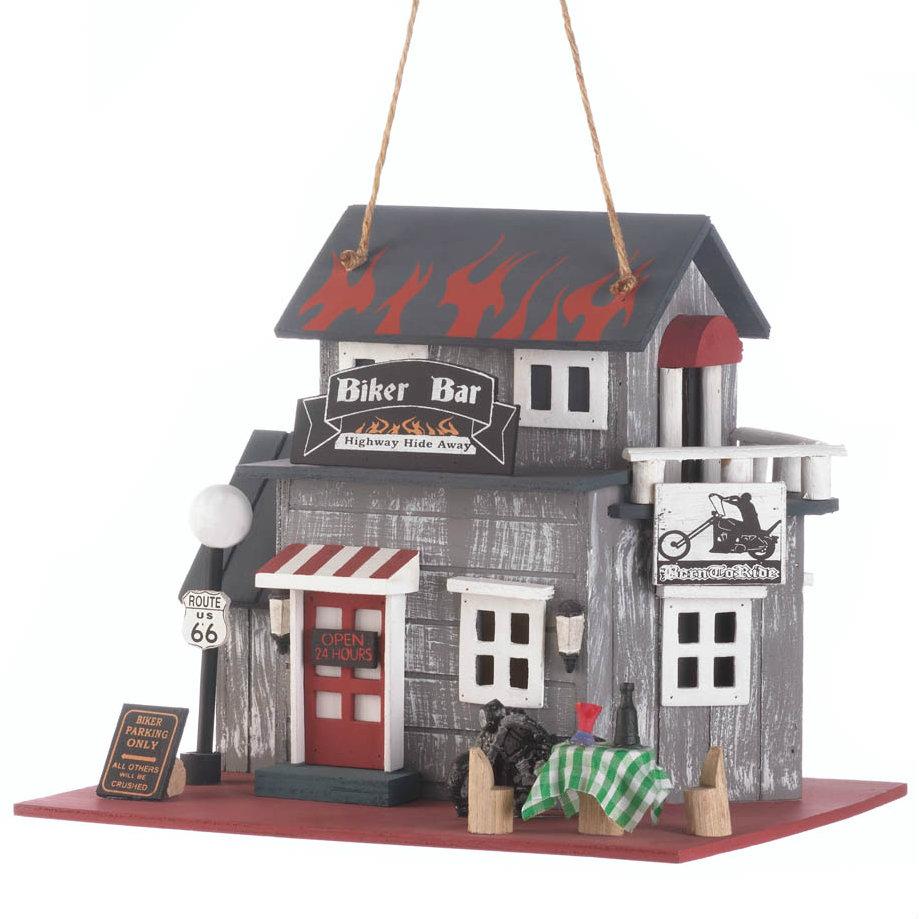 BIKER Bar Highway Hide Away Bird House