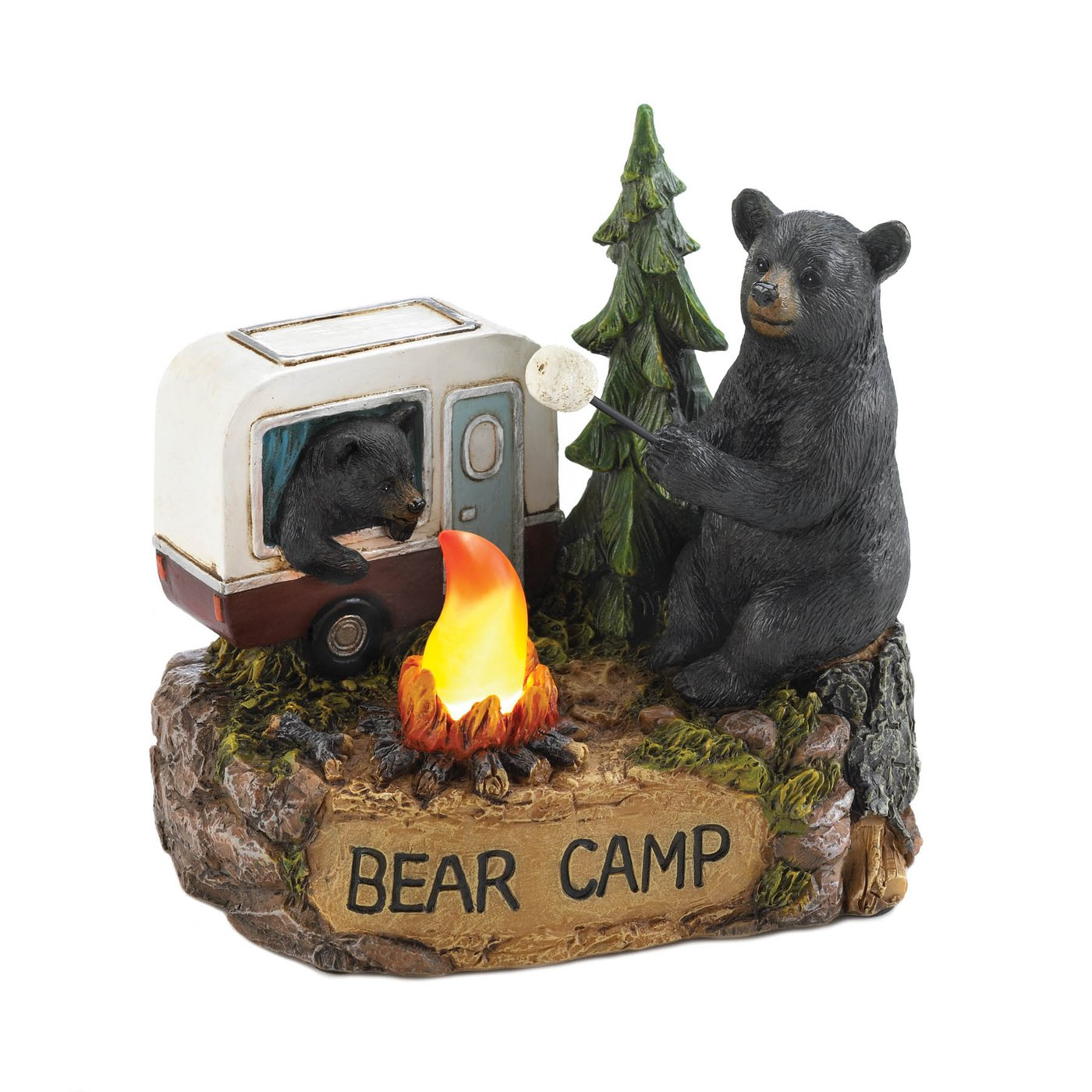 Bear Camp Light-Up FIGURINE