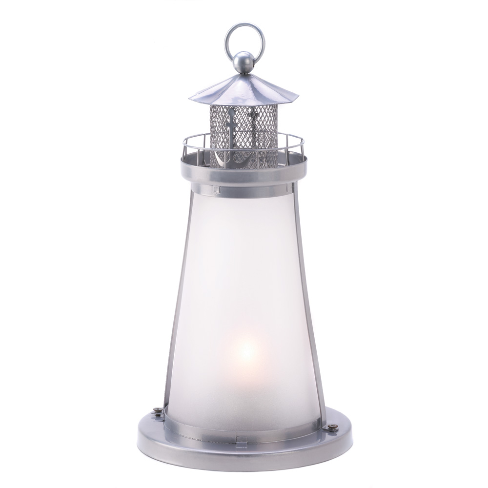 Lighthouse Frosted Candle LAMP