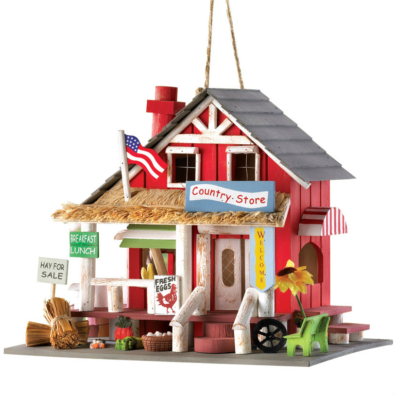 Wood Country Store Bird House